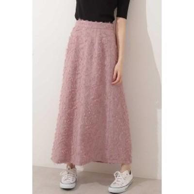 エヌ ナチュラルビューティーベーシック(N.Natural Beauty Basic*)/フェザーナロースカート