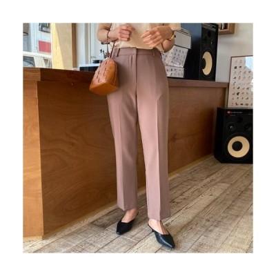 MINIBBONG レディース パンツ Week Straight Fit Slacks Pants - Black S / Beige S / Coffee Brown SML