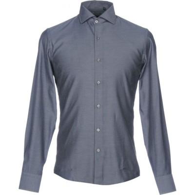 ハマキホ HAMAKI-HO メンズ シャツ トップス solid color shirt Lead