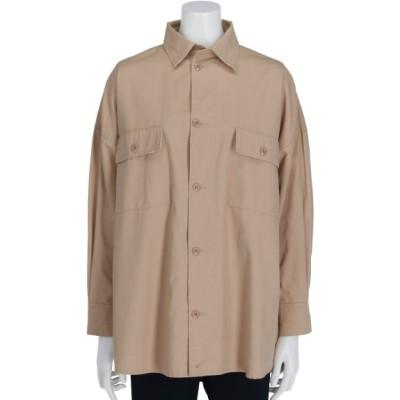 Doux archives (ドゥアルシーヴ) レディース 製品加工2WAYシャツ BEIGE M