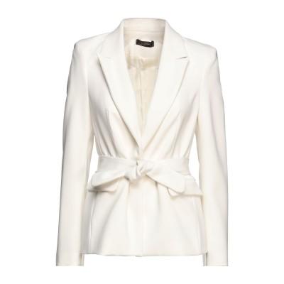 SOALLURE テーラードジャケット ホワイト 42 ポリエステル 100% テーラードジャケット