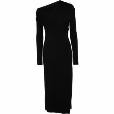 モンス Monse レディース ワンピース ミドル丈 ワンピース・ドレス Off-shoulder wool-blend midi dress Black
