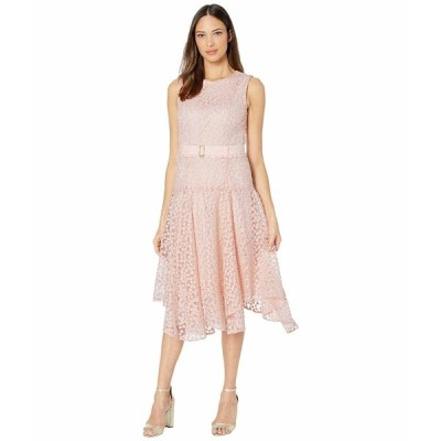 カルバンクライン ワンピース トップス レディース Floral Embroidered Handkerchief Dress Blush
