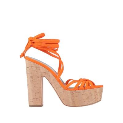 ALCHIMIA DI BALLIN サンダル オレンジ 38 紡績繊維 サンダル