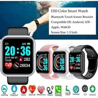 英語で対応Y 68スマート腕時計/D 20心拍腕時計血圧腕時計/男女運動ブルートゥース