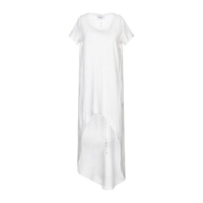 ドンダップ DONDUP 7分丈ワンピース・ドレス ホワイト L コットン 100% 7分丈ワンピース・ドレス