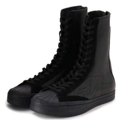 ヨウジヤマモト Yohji Yamamoto × adidas アディダス コラボスニーカー ブラック 黒 NAPPA SUEDE SS SK 8 MEGA HIGH ハイカット シューズ メンズ  取り寄せ
