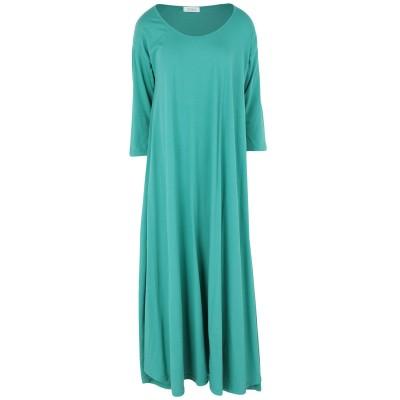 CROSSLEY ロングワンピース&ドレス グリーン XS コットン 100% ロングワンピース&ドレス
