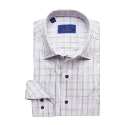 デイビッドドナヒュー メンズ シャツ トップス Casual Fit Spread Collar Long Sleeve Sport Shirt
