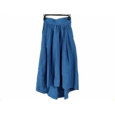 アールビーエス RBS ロングスカート サイズ0 XS レディース 美品 ブルー アシンメトリー【中古】20200624