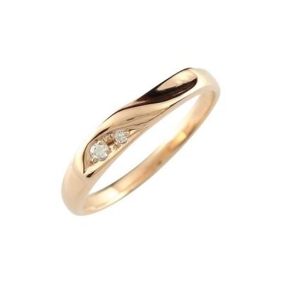 婚約指輪 エンゲージリング ダイヤモンド ピンクゴールドk18 18金 ダイヤモンドリング ダイヤ ストレート  プレゼント 女性 送料無料 人気
