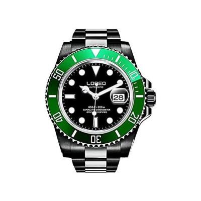 メンズ 自動 ビジネス スポーツ 夜光 腕時計 サファイアガラス ステンレススチール ダイビングウォッチ 40mm black green black