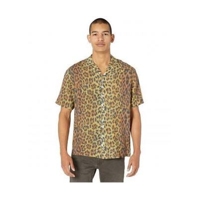 AllSaints メンズ 男性用 ファッション ボタンシャツ Colt Short Sleeve Shirt - Yellow