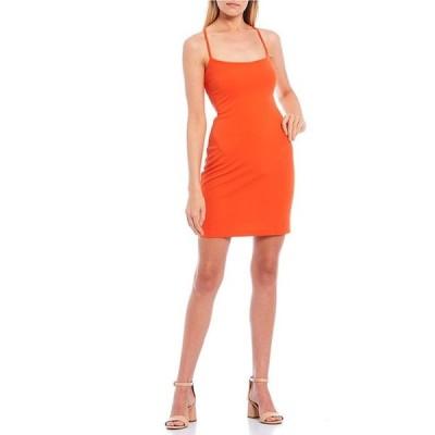 ビーダーリン レディース ワンピース トップス Scoop-Neck Lace-Up Back Bodycon Dress