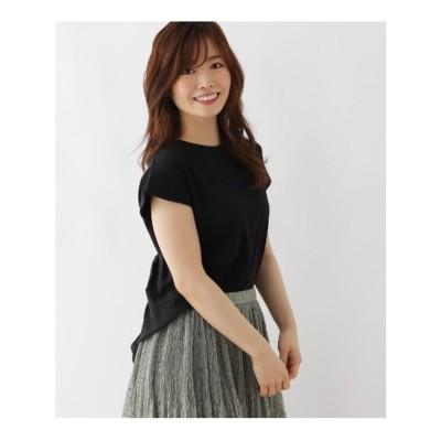 ピンクアドベ pink adobe 【WEB限定LLサイズあり】バックプリーツ プルオーバー (ブラック)