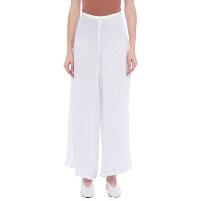MALÌPARMI パンツ ホワイト 42 麻 100% / コットン パンツ
