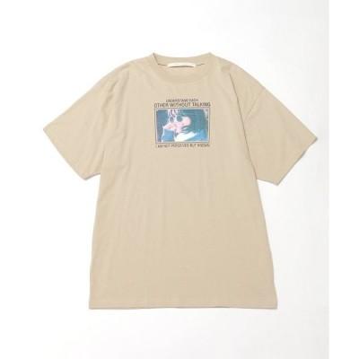 tシャツ Tシャツ 女の子フォトビックTシャツ