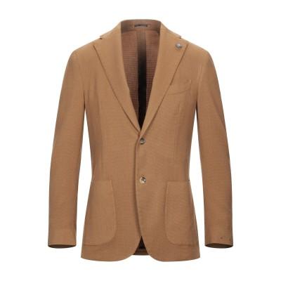 ラルディーニ LARDINI テーラードジャケット キャメル 48 ウール 95% / シルク 5% テーラードジャケット