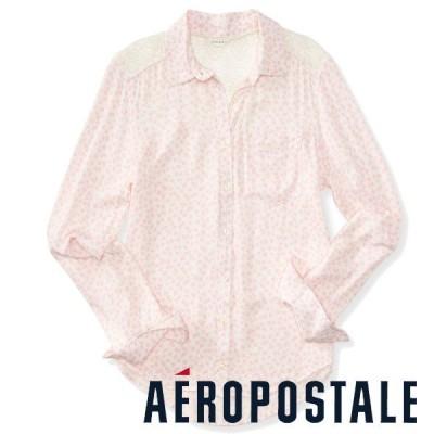 売切りセール 大きいサイズ レディース シャツ 長袖 花柄シャツ トップス ブラウス エアロポステール メール便可