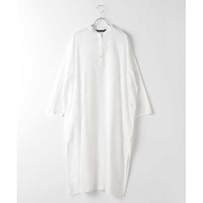 MARcourt/マーコート Lacknow embroidery band collar shirt OP off white FREE