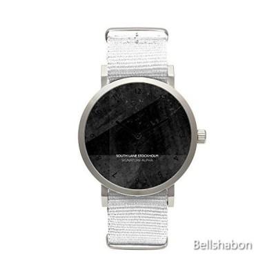 South Lane Signature Alpha Stainless Steel Quartz Watch with Nylon Strap, White, 20 (Model: W17_Classic_56) 並行輸入品