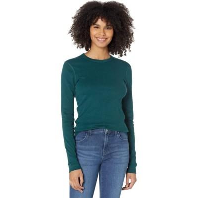 スリードッツ Three Dots レディース 長袖Tシャツ トップス 100% Cotton Heritage Knit Long Sleeve Crewneck Ponderosa Pine 1