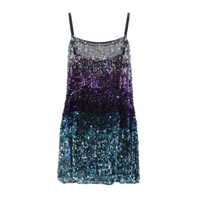 .AMEN. ミニワンピース&ドレス パープル 42 レーヨン 100% / ポリ塩化ビニル / ガラス ミニワンピース&ドレス