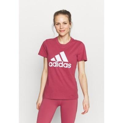 アディダス Tシャツ レディース トップス Print T-shirt - wild pink/white