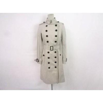 未使用 バーバリー BURBERRY トレンチコート コート 綿 ポリエステル タグ付き 38 グレージュ レディース