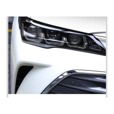 AL TPU トランスペアレント ブラック ヘッドライト フィルム 傷つき防止 保護 ステッカー 適用: トヨタ アヴァロン 2019 2020AL-FF-5247