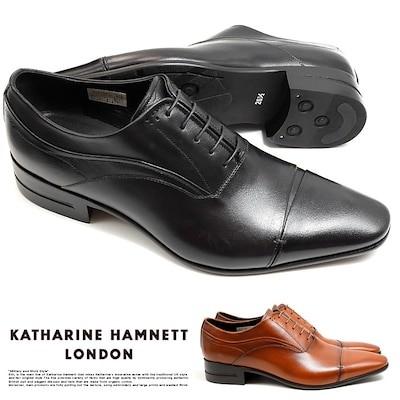 サイズ交換1回無料キャサリンハムネット ビジネスシューズ 靴 革靴 紳士靴 メンズ 本革 ストレートチップ 穴飾り 31642