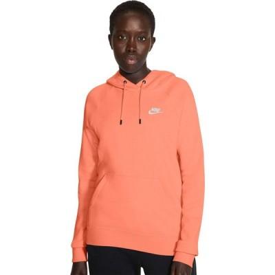 ナイキ Nike レディース パーカー トップス NSW Essential Hoodie Pullover Fleece Crimson Bliss/White