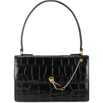 スタウド STAUD レディース ハンドバッグ バッグ Jackie crocodile-effect leather top handle bag Black