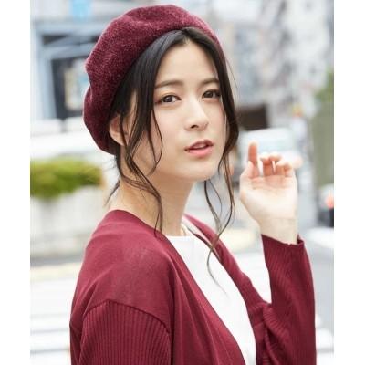 帽子 パイル織物ベレー