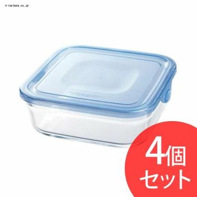 Iwaki NEWパック&レンジ 800ml(4個セット) アクアブルー KBT3247BLN