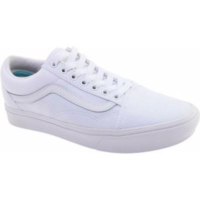 バンズ メンズ スニーカー シューズ Vans ComfyCush Old Skool Sneaker Classic True White/True White Canvas