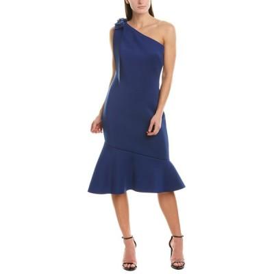 バッジェリーミシュカ ワンピース トップス レディース Badgley Mischka Sheath Dress royal blue