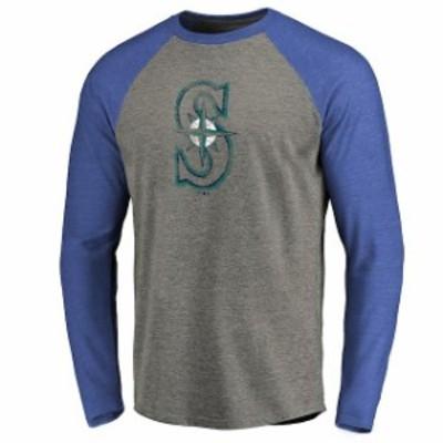 Fanatics Branded ファナティクス ブランド スポーツ用品  Seattle Mariners Ash Distressed Team Raglan Tri-Blend Lo