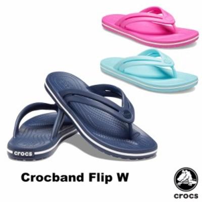 クロックス(CROCS) クロックバンド フリップ ウィメン(crocband flip w)/サンダル/ビーサン【女性用】 [BB]