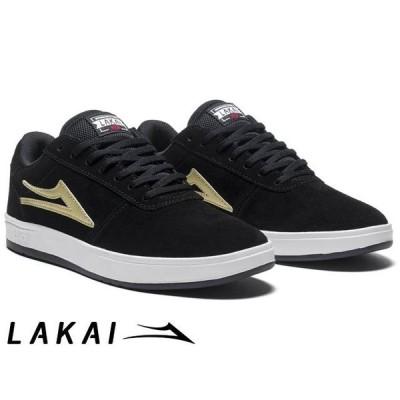 ラカイ Lakai MANCHESTER XLK BLACK/GOLD SUEDE マンチェスター ブラック/ゴールド スエード