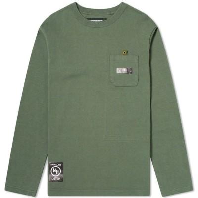 ネイバーフッド Neighborhood メンズ 長袖Tシャツ トップス Long Sleeve D.H Tee Olive Drab