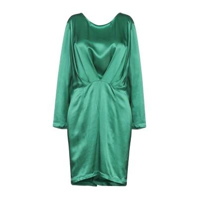 スーベニア SOUVENIR ミニワンピース&ドレス エメラルドグリーン M レーヨン 100% ミニワンピース&ドレス