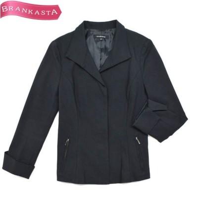 LAUTREAMONT ロートレアモン コットン 比翼 袖ロールアップジャケット 2 M相当 黒\全品対象20%OFFクーポンあり/22lj05