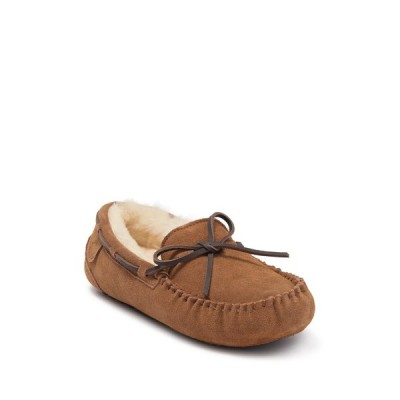 ディアフォームズ メンズ サンダル シューズ Fireside Genuine Shearling Boat Shoe - Wide Width Available CHESTNUT