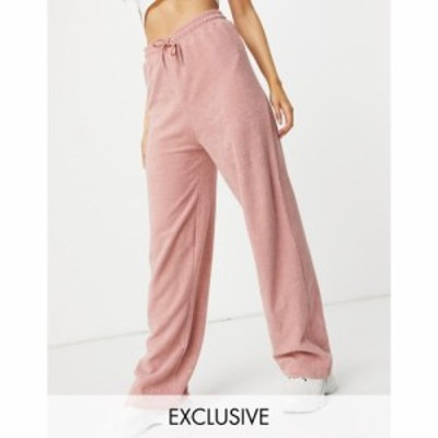 ニューガールオーダー New Girl Order レディース ボトムス・パンツ Exclusive Terry Towelling Drawstring Trousers Co-Ord In Blush Pi