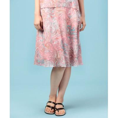 【ピッコラドンナ】 BINDAプリントスカート レディース ピンク 38(L) Piccola Donna