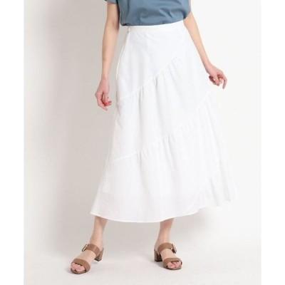 SunaUna / スーナウーナ 【洗える】ロングティアードスカート