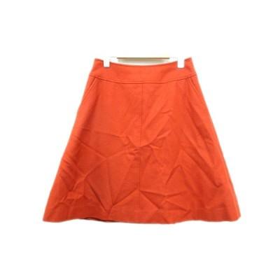 【中古】イエナ IENA ウール スカート 台形 バックジップ フレア 38 オレンジ系 レディース/7 △6 レディース 【ベクトル 古着】