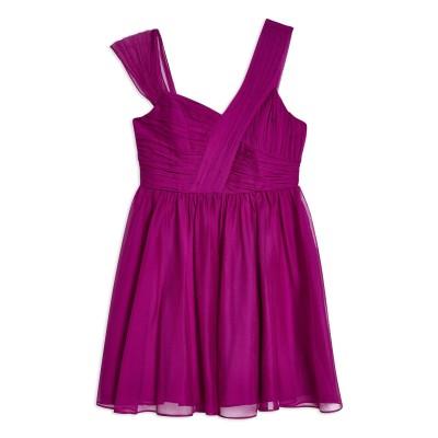 トップショップ TOPSHOP ミニワンピース&ドレス モーブ 12 ポリエステル 100% ミニワンピース&ドレス