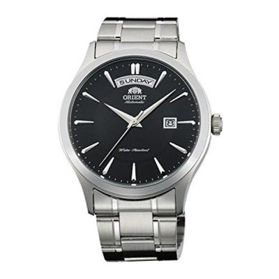 オリエント Orient 腕時計 時計 ORIENT MEN'S 41MM STEEL BRACELET & CASE AUTOMATIC BLACK DIAL WATCH FEV0V001BH